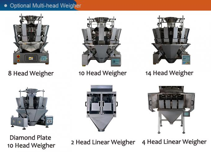 Small Hardware Multihead Weigher Packing Machine With Mild / Stainless Steel Body
