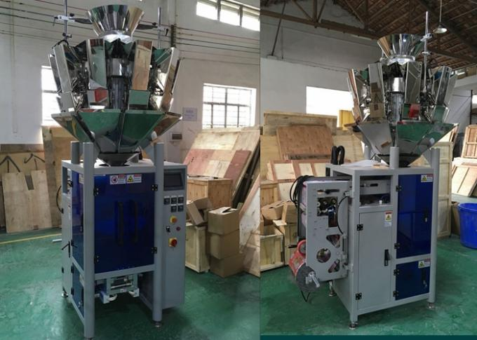Multi Heads Weigher Vertical Form Fill And Seal Machines , Chips Packing Machine