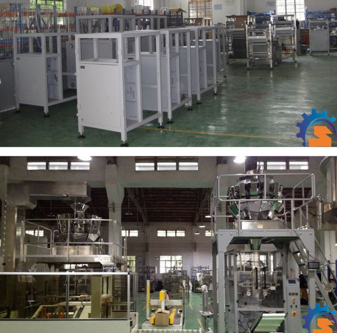 High Efficiency Automatic Multihead Weigher Packing Machine / Snack Food Bagging Machine