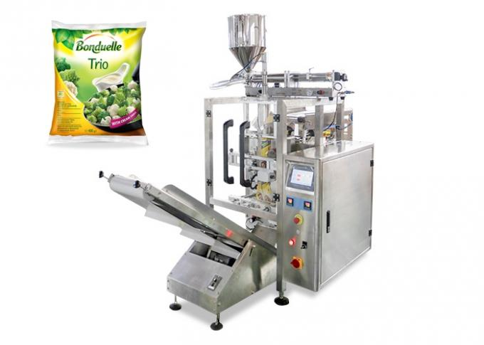3 Side / 4 Side Seal Sachet Packaging Machine , Ketchup Shampoo Packing Machine