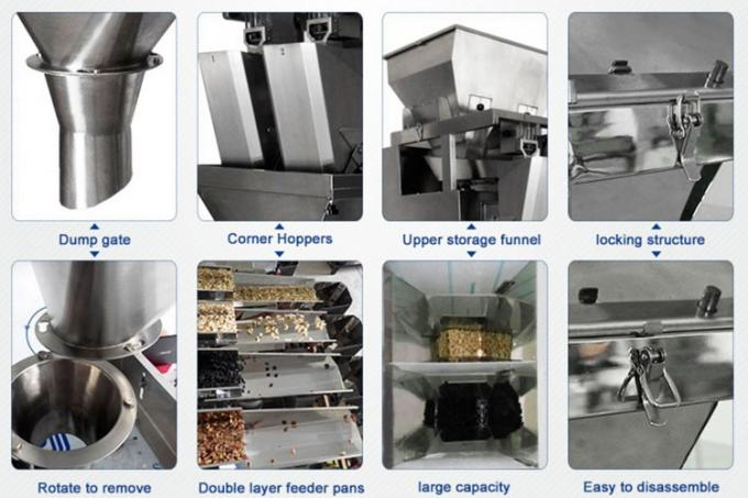 Servo Motor Controlled Coffe Packing Machine / 4 Heads Linear Weigher