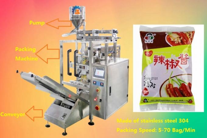 Stainless Steel Vertical Form Filling Sealing Machine For Packaging Liquid Products