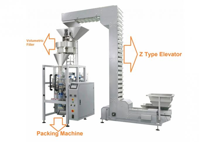 3.245 KW Granule Packing Machine For Sugar and Beans In Laminated Film Bag