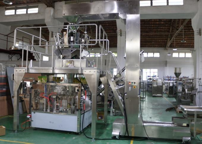 10 Heads Granule Food Packing Machine , Rotary Doypack Filling Machine