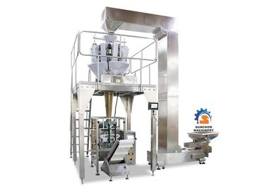Sugar / Biscuit Multihead Weigher Packing Machine 0.04 - 0.09mm Thick Packing