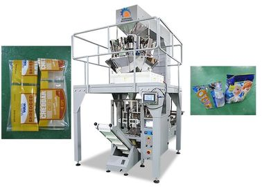 China Vertical Puffed Snacks Packing Machine , Multi Heads Weigher Food Package Machine supplier