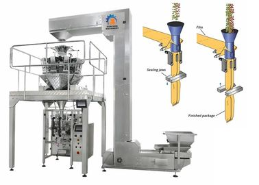 China Vertical Linear Weigher Packing Machine 0.2 - 1% High Weight Accuracy supplier