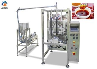China 220 / 380V Milk Packaging Machine , Touch Screen Operate Liquid Pouch Packing Machine factory