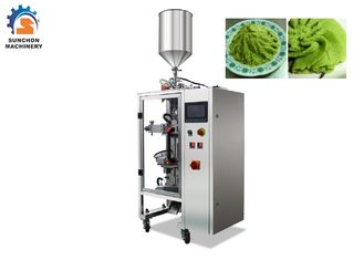 China 1 - 50 Gram Automatic Sachet Packing Machine For Wasabi Paste / Liquid Food factory