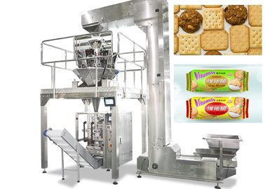 China Vertical Food Packing Machine For Biscuit / Chips Full Automatic Control supplier