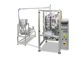 China High Accuracy Automatic Liquid Packing Machine , SS Material Oil Packing Machine supplier