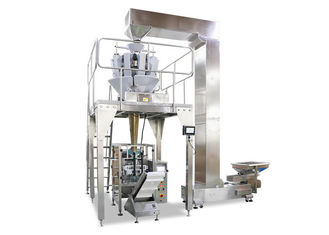 China 14 Heads Weigher Vertical Form Fill Seal Machine For Packing 5KG Ice Cube supplier