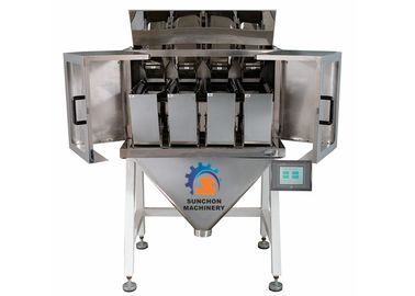 China Four Head Linear Weigher 3000ml Hopper Volume 7 Inch Touch Screen Operate supplier