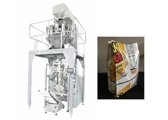 China Quad Seal Bag Automatic Packaging Machine For Candy , Biscuit and Pet Food supplier