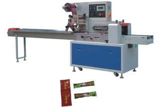 China Automatic Back Sealing Flow Plillow Food Packing Machine With PLC Touch Screen Operation supplier