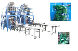 China Small Hardware Multihead Weigher Packing Machine With Mild / Stainless Steel Body supplier