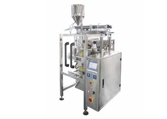 China Stainless Steel Liquid Soybean Sauce Packaging Machine Dosing By Pump factory