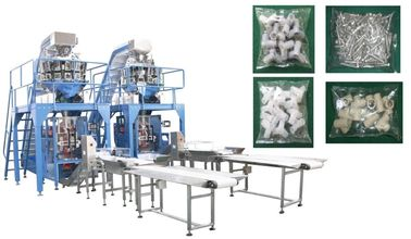 China Small Hardware / Pipe Fittings Multihead Weigher Packing Machine With Mild / Stainless Steel Body supplier