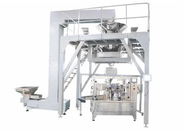China PLC Operated Food Packing Machine , Fully Automated Doypack Packing Machine For Stand Up Pouch Bag With Zipper supplier
