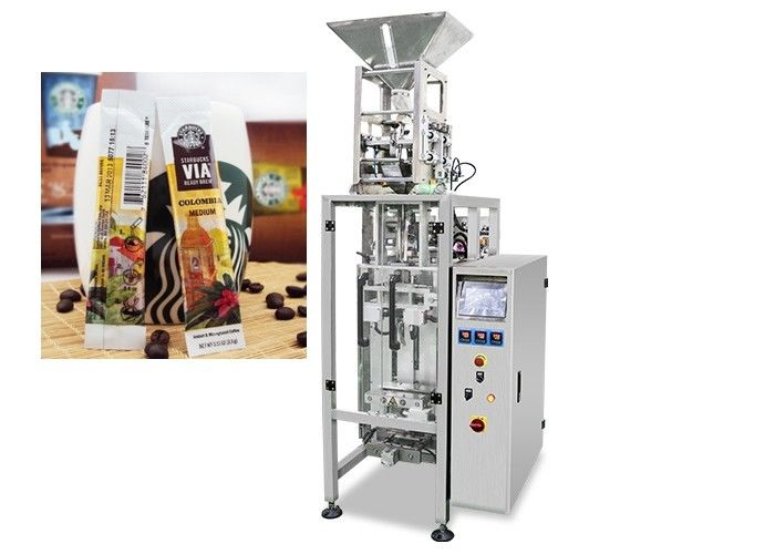 Instant Coffee Powder Packaging Machine 0.04 - 0.09mm Film Thickness