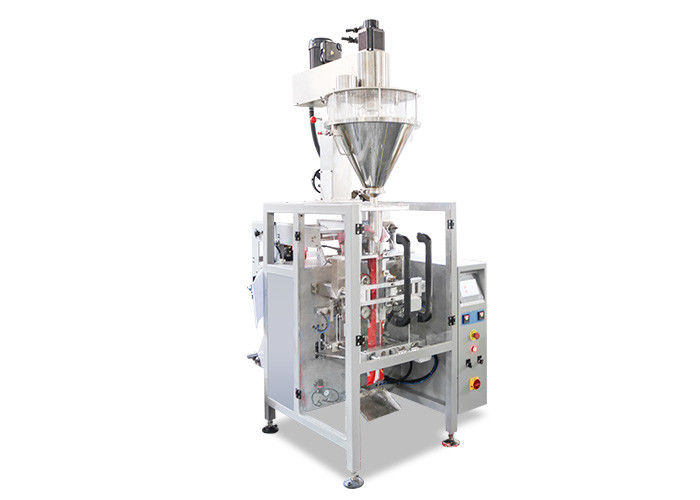 Auger Filler Flour Packaging Machine , Vertical Automatic Auger Filling Machine