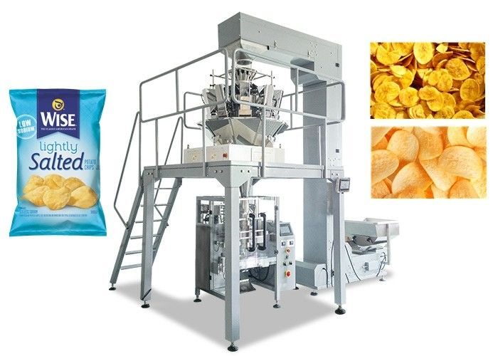 Potato Chips Multihead Weigher Packing Machine 80 - 200MM Bag Width supplier
