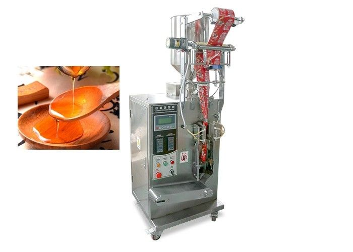 Stand Up Soup Packaging Machine , Liquid Packing Oil Filling And Packing 5g supplier