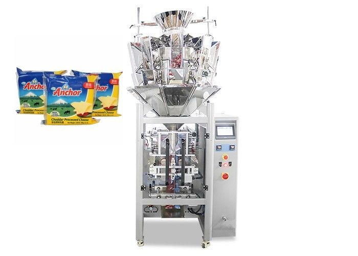 High Speed and Automatic Pieces Slice Cheese Packing Machine With Tray , CE Certification