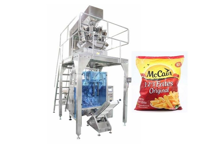 Stainless Steel Automatic Frozen French Fries Packing Machinery supplier