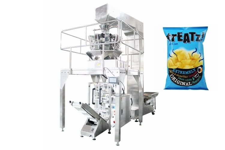 Full Automatic Potato Chips Vertical Packing Machine , Bag Fill With Nitrogen supplier