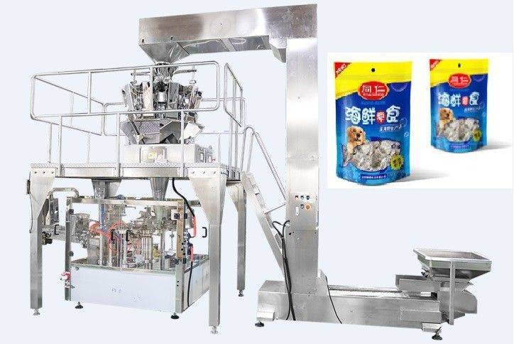 Fully Automated Food Packaging Machine Rotary Premade / Doypack Packaging Machine