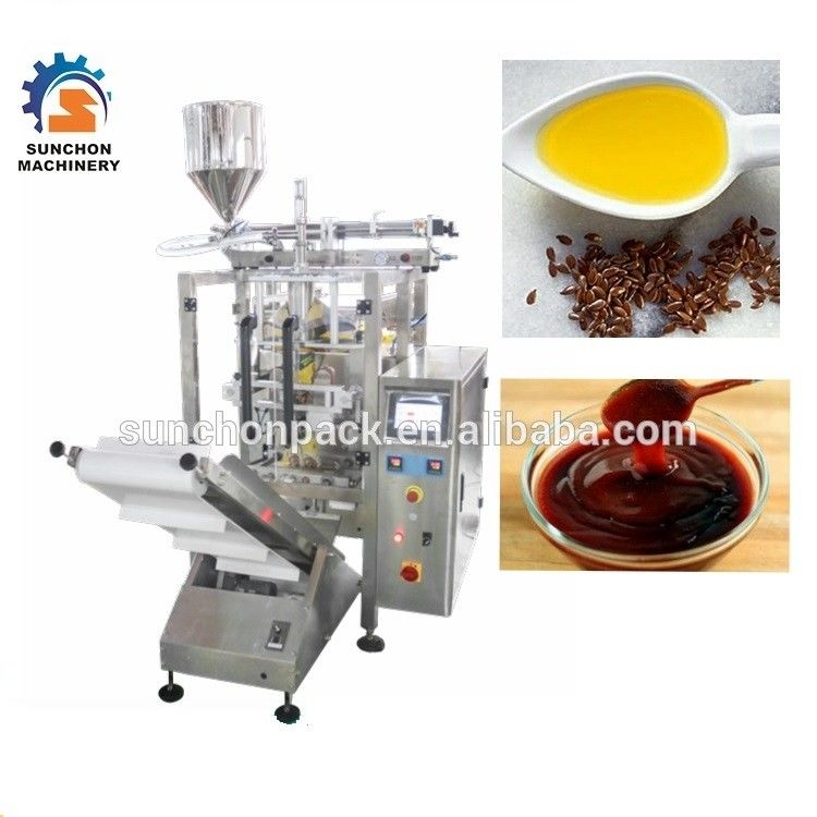 Automatic Liquid Packaging Machine For Peanut Butter , Olive Oil , Cream supplier