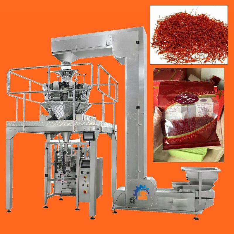High Speed Multihead Weigher Automatic Packing Machine For Dried Saffron , Cranberries , Fruit supplier