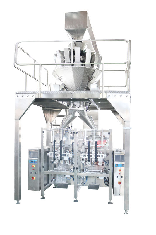 Plastic Bag Granule Packing Machine , PLC Control Auto Weighing Packing Machine For Nuts supplier