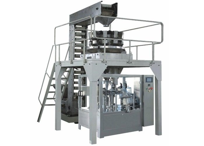 10 Heads Granule Food Packing Machine , Rotary Doypack Filling Machine supplier