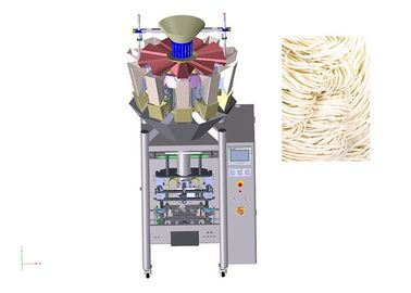 Noodles Linear Weigher Packing Machine With Multiheads Scale Electric Driven