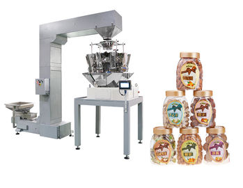 Multiheads Weigh Fill Machine For Food In Box / Bottle / Can / Doybag
