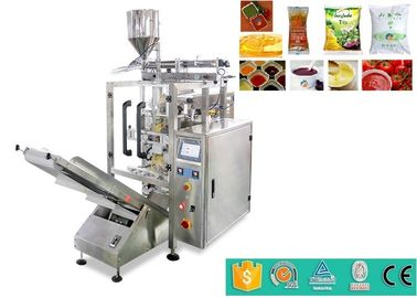 High Speed Automatic Liquid Packaging Machine For Ketchup / Fruit And Tomato Jam 100g 200g