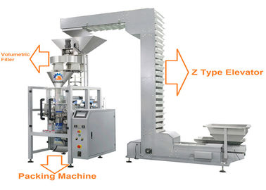Automatic Granule Packing Machine With Volumetric Filler For Beans , Rice , Seeds