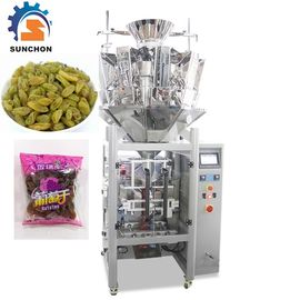 Pillow Bag Raisins Automated Packing Machine With Colorful Touch Screen