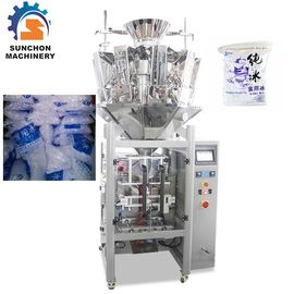 Multihead Weigher Automatic Ice Cube Packing Machine Simultaneous Control
