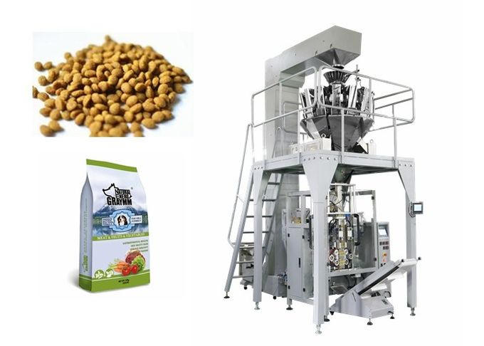 Plastic Bag Granule Packing Machine , PLC Control Auto Weighing Packing Machine For Nuts