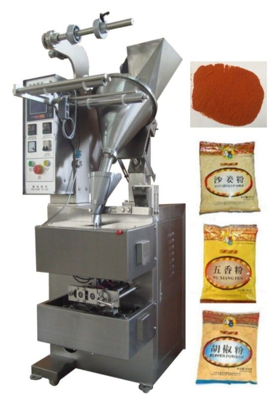 10 - 200g 3 or 4 Side Pillow Bag Sealing Sachet Packing Machine For Hot Peper / Chilli Powder